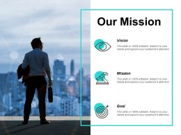 Our Mission Vision Goal F264 Ppt Powerpoint Presentation Pictures Graphics