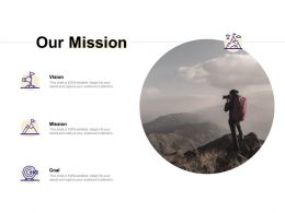 Our Mission Vision Goal F296 Ppt Powerpoint Presentation Show Example Topics
