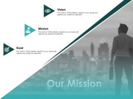 Our Mission Vision Goal F330 Ppt Powerpoint Presentation Pictures Portfolio