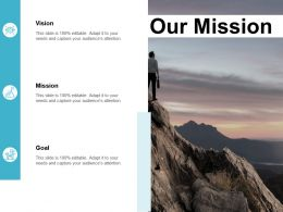 Our Mission Vision Goal F382 Ppt Powerpoint Presentation Pictures Brochure