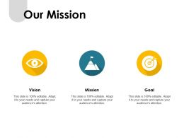 Our Mission Vision Goal F392 Ppt Powerpoint Presentation Pictures Samples