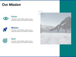 Our Mission Vision Goal F402 Ppt Powerpoint Presentation Pictures Rules