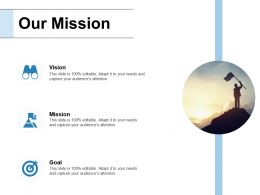 Our Mission Vision Goal F463 Ppt Powerpoint Presentation Model Professional
