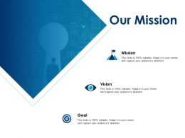 Our Mission Vision Goal F522 Ppt Powerpoint Presentation Outline Background Image
