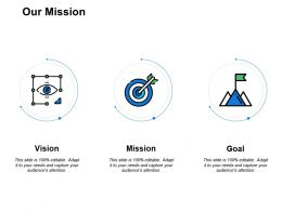 Our Mission Vision Goal F56 Ppt Powerpoint Presentation Pictures Background Images
