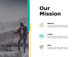 Our Mission Vision Goal F662 Ppt Powerpoint Presentation File Model