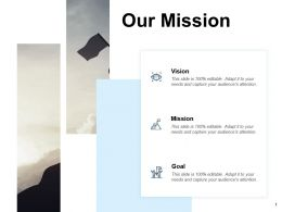 Our Mission Vision Goal F673 Ppt Powerpoint Presentation Portfolio Grid