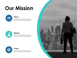 Our Mission Vision Goal F687 Ppt Powerpoint Presentation Pictures Format