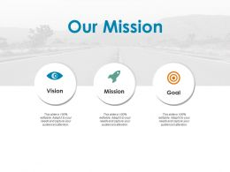 Our Mission Vision Goal F694 Ppt Powerpoint Presentation Model Introduction