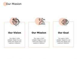 Our Mission Vision Goal F694 Ppt Powerpoint Presentation Pictures Brochure