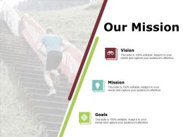 Our Mission Vision Goal F701 Ppt Powerpoint Presentation Ideas Gridlines