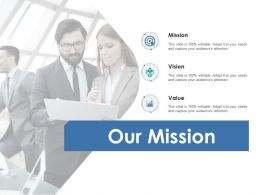 Our Mission Vision Goal F718 Ppt Powerpoint Presentation Show Files