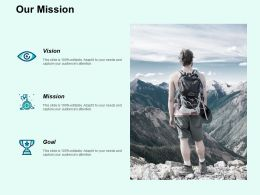 Our Mission Vision Goal F723 Ppt Powerpoint Presentation Portfolio Slides