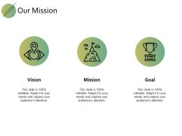 Our Mission Vision Goal F739 Ppt Powerpoint Presentation Gallery Outline