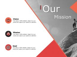 Our Mission Vision Goal F747 Ppt Powerpoint Presentation Layouts Ideas