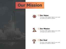Our Mission Vision Goal F748 Ppt Powerpoint Presentation Gallery Gridlines