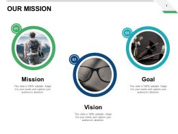 Our Mission Vision Goal F758 Ppt Powerpoint Presentation Pictures Slides