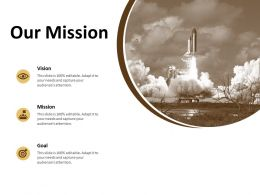 Our Mission Vision Goal F786 Ppt Powerpoint Presentation Portfolio Files