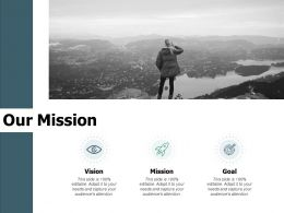 Our Mission Vision Goal F795 Ppt Powerpoint Presentation Portfolio Elements