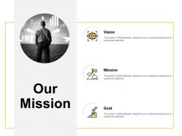 Our Mission Vision Goal F97 Ppt Powerpoint Presentation Pictures Deck