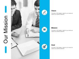 Our Mission Vision Goal J134 Ppt Powerpoint Presentation File Show