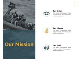 Our Mission Vision Goal J145 Ppt Powerpoint Presentation File Show