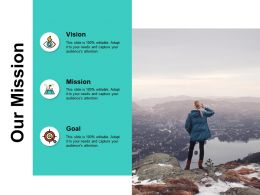Our Mission Vision Goal J149 Ppt Powerpoint Presentation File Deck