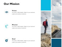 Our Mission Vision Goal J207 Ppt Powerpoint Presentation File Styles