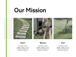 Our Mission Vision Goal J34 Ppt Powerpoint Presentation File Example