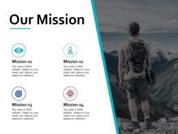 Our Mission Vision Goal J95 Ppt Powerpoint Presentation Gallery Icons