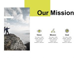 Our Mission Vision Goal K105 Ppt Powerpoint Presentation Background Images
