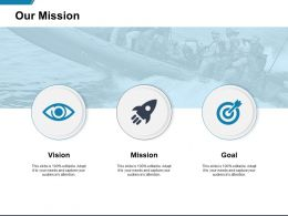 Our Mission Vision Goal K164 Ppt Powerpoint Presentation Examples