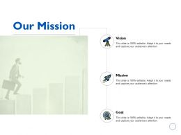 Our Mission Vision Goal K196 Ppt Powerpoint Presentation Gallery Show