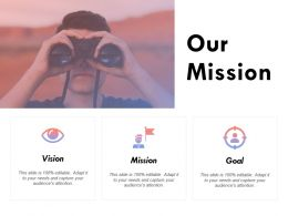 Our Mission Vision Goal K238 Ppt Powerpoint Presentation Samples