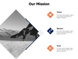 Our Mission Vision Goal K278 Ppt Powerpoint Presentation Gallery Templates