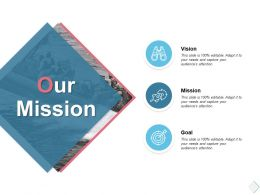 Our Mission Vision Goal K64 Ppt Powerpoint Presentation Outline