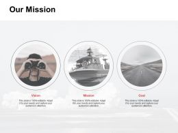 Our Mission Vision Goal K73 Ppt Powerpoint Presentation File