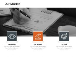 Our Mission Vision Goal L193 Ppt Powerpoint Presentation Inspiration Icon