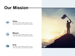 Our Mission Vision Goal L25 Ppt Powerpoint Presentation Slides Picture