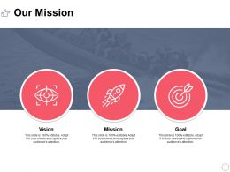 Our Mission Vision Goal L386 Ppt Powerpoint Presentation Slides
