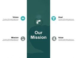 Our Mission Vision Goal L398 Ppt Powerpoint Presentation Icon