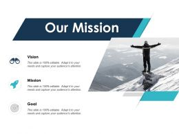 Our Mission Vision Goal L591 Ppt Powerpoint Presentation File Microsoft