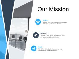 Our Mission Vision Goal L619 Ppt Powerpoint Presentation Good
