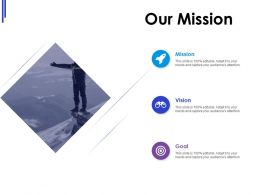 Our Mission Vision Goal L631 Ppt Powerpoint Presentation Gallery Smartart