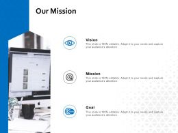 Our Mission Vision Goal L652 Ppt Powerpoint Presentation Outline Design
