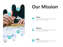 Our Mission Vision Goal L688 Ppt Powerpoint Presentation Outline Picture
