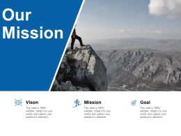 Our Mission Vision Goal L70 Ppt Powerpoint Presentation Styles Microsoft