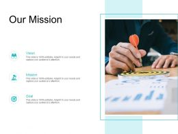 Our Mission Vision Goal L719 Ppt Powerpoint Presentation Good