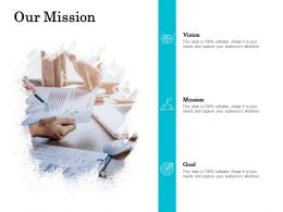 Our Mission Vision Goal L730 Ppt Powerpoint Presentation