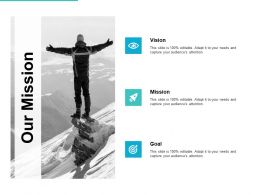 Our Mission Vision Goal L731 Ppt Powerpoint Presentation Infographic